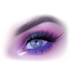Fashion woman eye makeup vector