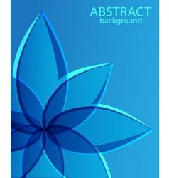 Abstract blue background with flower vector