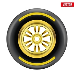 Race wheel and tire symbol vector