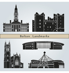 Bolton landmarks and monuments vector