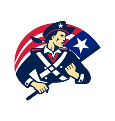 American patriot minuteman flag retro vector