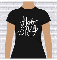 Hello spring simple t-shirt design vector