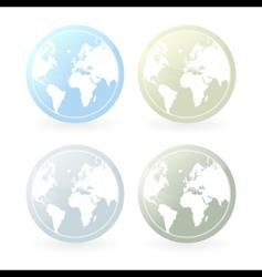 Mildly colored world map icons vector