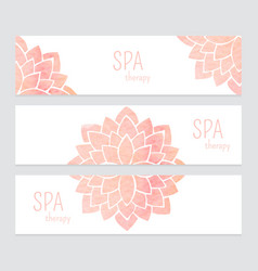 templates of banners watercolor flowers vector image