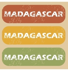 Vintage madagascar stamp set vector