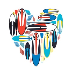 Stand up paddle boards and paddles set w vector