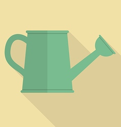 Watering can flat icon vector