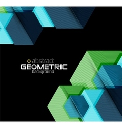 Textured paper geometric shapes on black vector