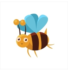 Bee mid-air icon vector