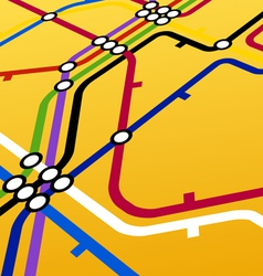 Metro scheme on yellow vector
