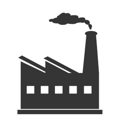 Industry and factory isolated flat icon vector