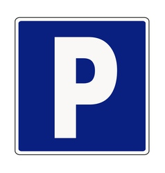 Autocar parking sign vector image vector image