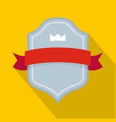 badge best quality icon flat style vector image vector image