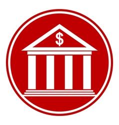 Bank button vector image vector image