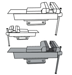 Bench vise vector