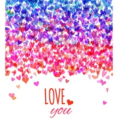 Bright valentines background vector