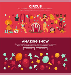 circus with amazing show promotional internet vector image