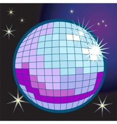 disco ball illustration vector image
