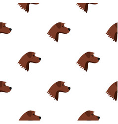 Dog pattern seamless vector