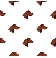 Dog pattern seamless vector