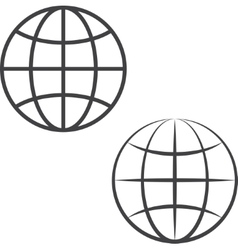 Earth globe icons vector image vector image