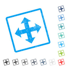 Expand arrows icon rubber watermark vector