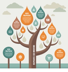 Infographic business concept with tree vector