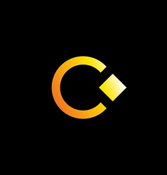 Letter C logo icon design template with ring and vector image
