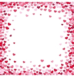 Lovely heart frame with confetti hearts vector