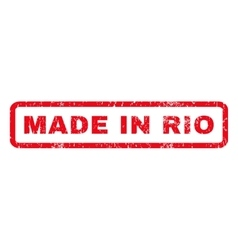 Made in rio rubber stamp vector
