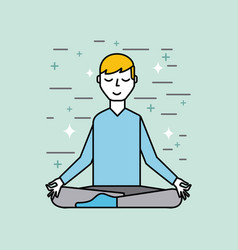 man meditating poster image vector image