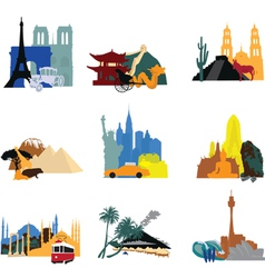 miniatures different countries vector image vector image