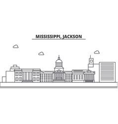 Mississippi jackson architecture line skyline vector