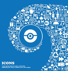 pokeball icon sign Nice set of beautiful icons vector image vector image