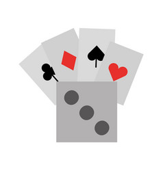 poker card with dice vector image vector image