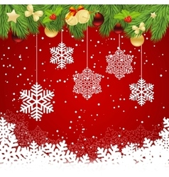 red christmas template vector image vector image