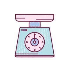 scale weight machine kitchen utensil vector image