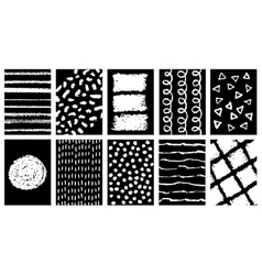 Set of doodle grunge posters vector image vector image