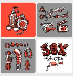 sex shop vector image
