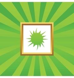 Starburst picture icon vector