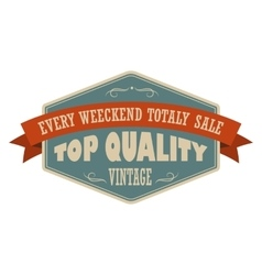 Top quality vintage banner vector