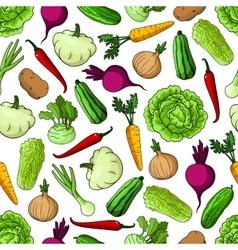 Vegetables background seamless pattern wallpaper vector