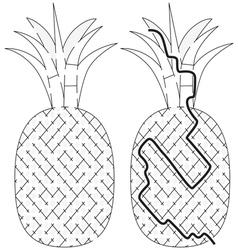 Easy pineapple maze vector image