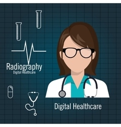 Doctor digital healthcare radiography graphic vector