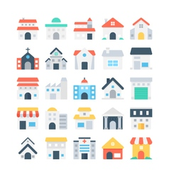 Building colored icons 2 vector
