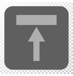 Move top rounded square button vector