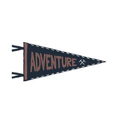 Adventure pennant design monochrome pendant vector