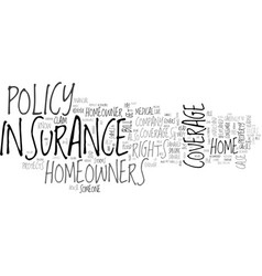 Why should you get a homeowner insurance text vector