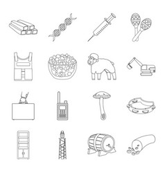 organ army finance and other web icon in outline vector image