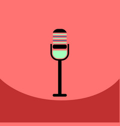 Flat icon design collection microphone in flat vector